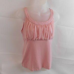 Dressbarn Womens Sleeveless Top Medium Pink